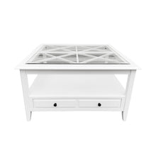 Load image into Gallery viewer, Cape Cod Glass Top Square Coffee Table - White Furniture nz