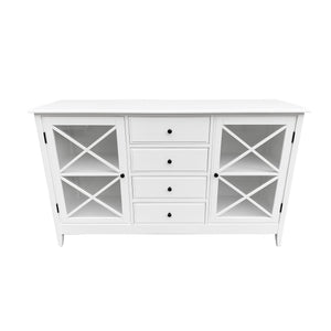 Cape Cod 4 Drawer Buffet - White Furniture nz