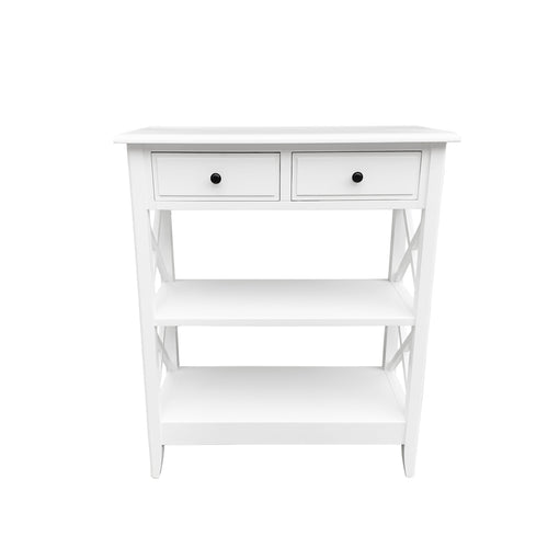 Cape Cod Tall Hall Console Table - White  Furniture nz