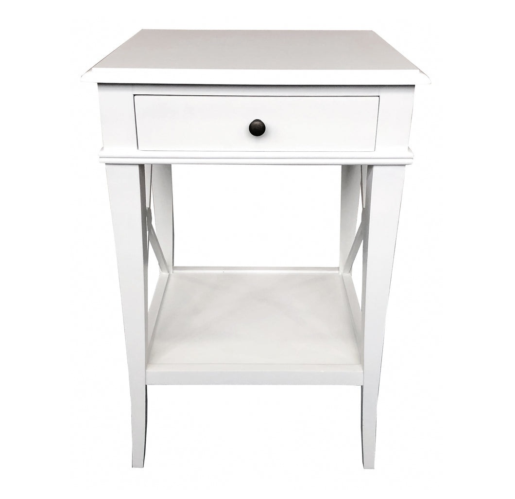 Chateau Bedside Table - White Furniture nz