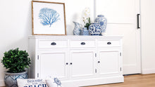 Load image into Gallery viewer, Hamptons 3 Door Buffet - White  Furniture nz