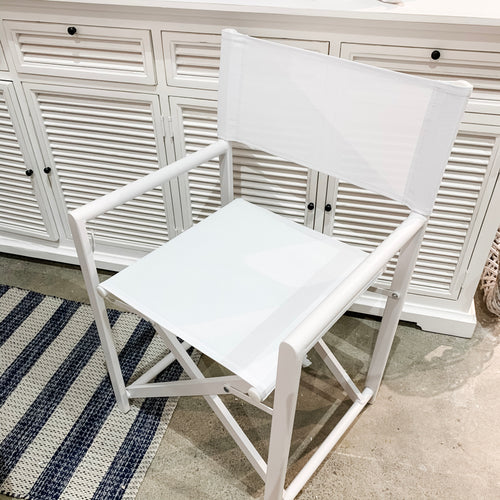 Directors Chair - White Furniture nz