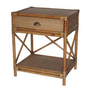 Havana Rattan Bedside Table Furniture nz