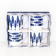Load image into Gallery viewer, Set Of 4 Sieni Couture Larch Fishie Fine Bone China Mugs
