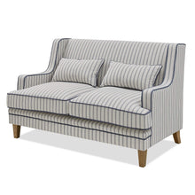 Load image into Gallery viewer, Hamptons 2 Seater Sofa In Blue & White Pin Stripe Furniture nz