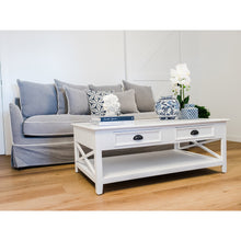 Load image into Gallery viewer, Hamptons 2 Drawer Coffee Table - White  Furniture nz
