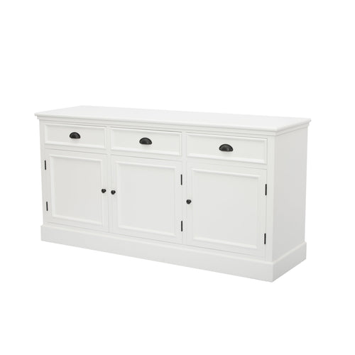 Hamptons 3 Door Buffet - White  Furniture nz