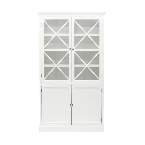 Hamptons Display Cabinet - White  Furniture nz