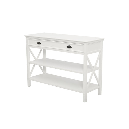 Hamptons Hall Console Table - White  Furniture nz