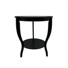 Load image into Gallery viewer, Hamptons Round Curved Leg Side Table - Black  Furniture nz
