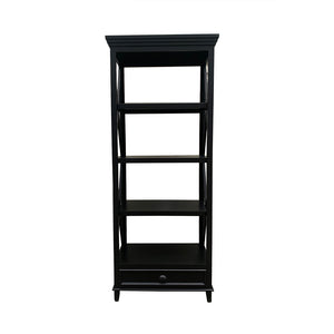 Hamptons Small Bookshelf - Black Furniture nz