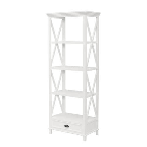 Hamptons Small Bookshelf - White  Furniture nz