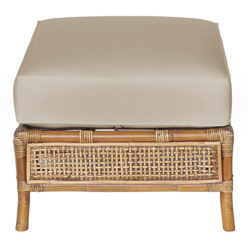 Havana Rattan Ottoman With Cushion furniture nz