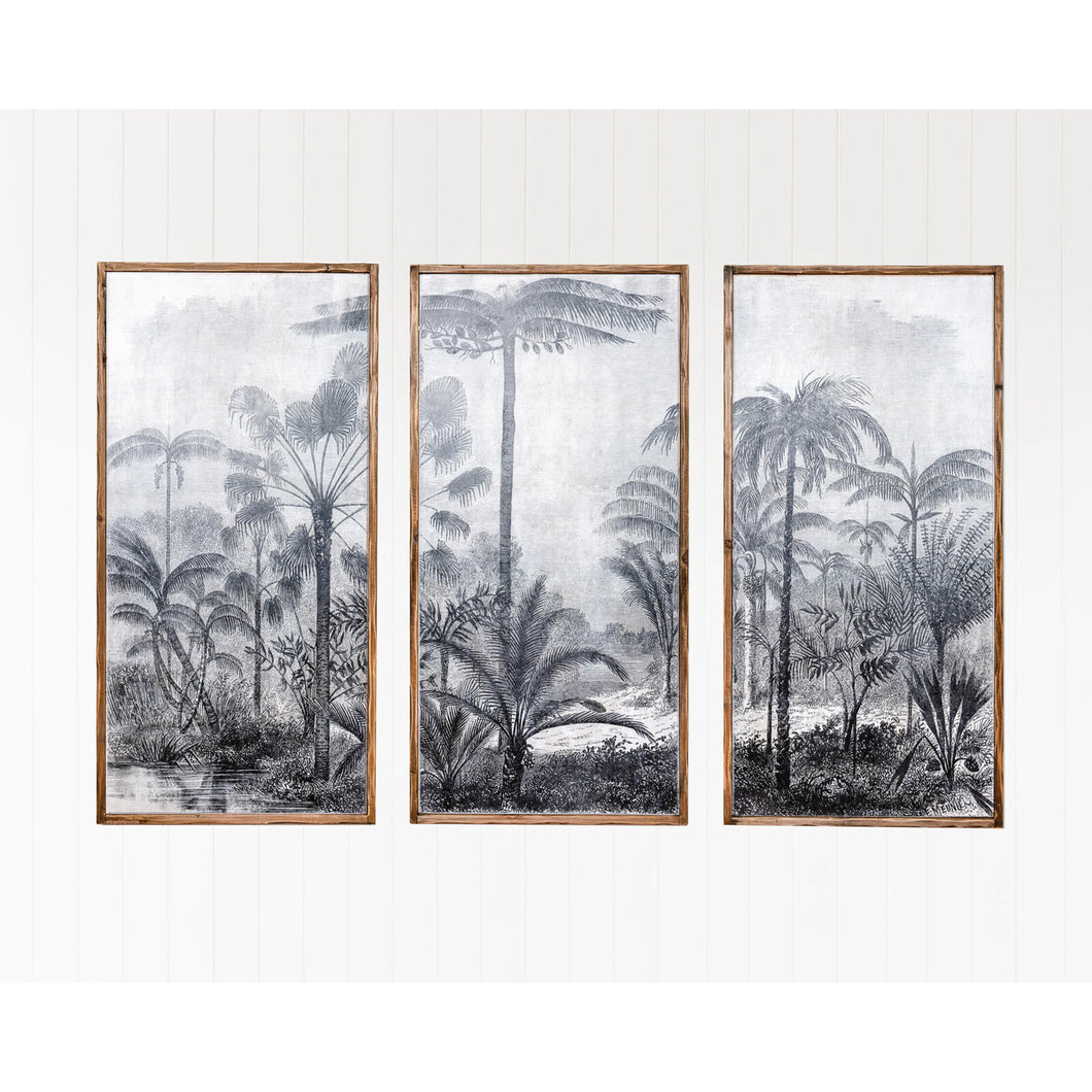 Landscape Etching Triptych - Set Of 3 Homewares nz