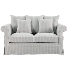 Load image into Gallery viewer, New England 2 Seater Sofa In Grey With Stripes