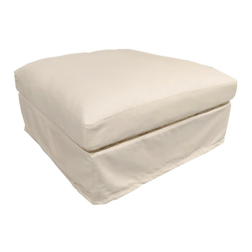 Newport Ottoman - Natural (With Slip Cover) Furniture nz
