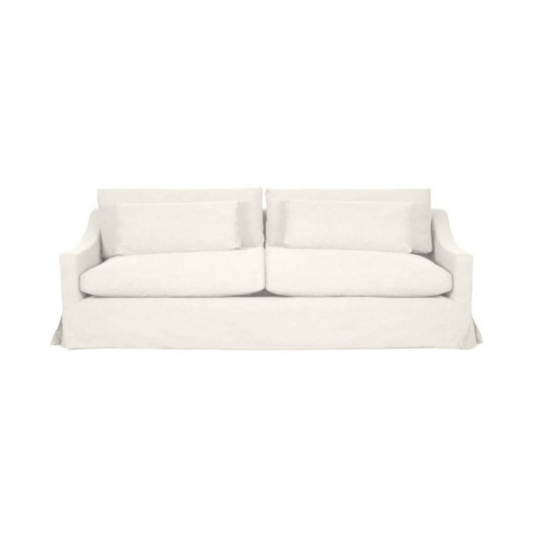 Newport 3.5 Seater Sofa - Off White (With Slip Cover)  Furniture nz