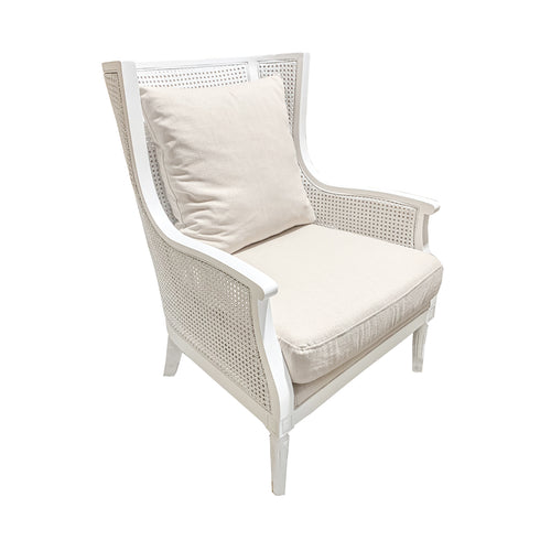 Panama Rattan Armchair - White Furniture nz