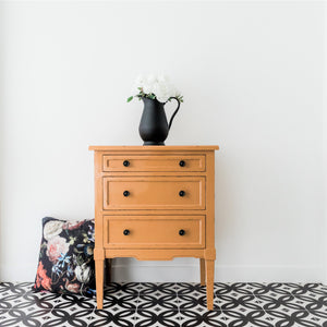 Parisian 3 Drawer Chest - Gloss Mustard  Furniture nz