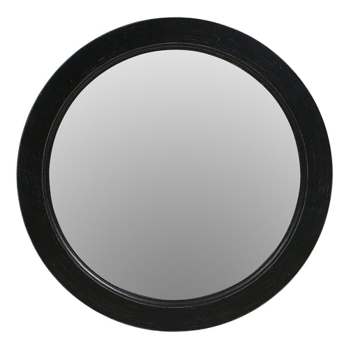 Parisian Round Mirror - Black  Homewares nz