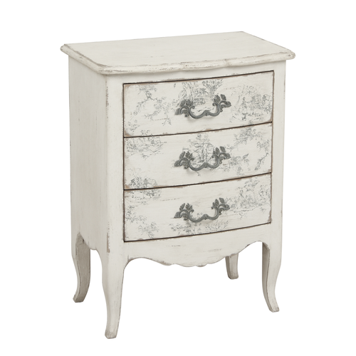 Parisian Florentin 3 Drawer Chest - Small