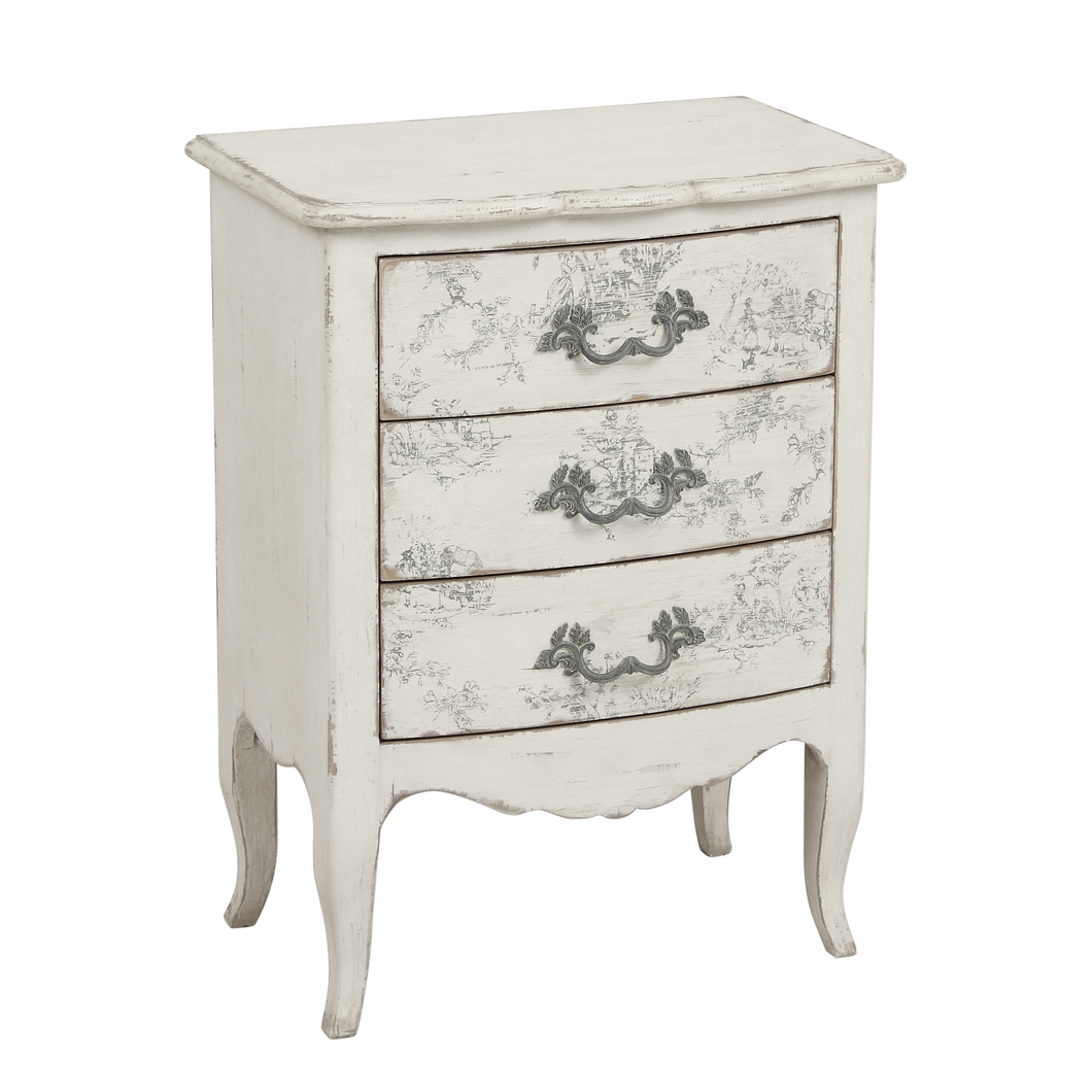 Parisian Florentin 3 Drawer Chest - Small Furniture nz