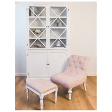 Load image into Gallery viewer, Provincial Leopold Occasional Chair - Rose With White Legs  Furniture nz