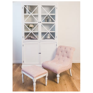Provincial Leopold Occasional Chair - Rose With White Legs  Furniture nz