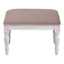 Load image into Gallery viewer, Provincial Pouffe Footstool - Rose With White Legs  Furniture nz