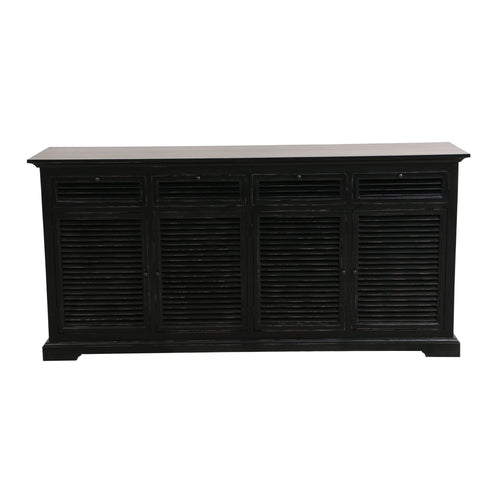 Riviera 4 Door Sideboard - Black  Furniture nz
