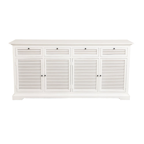 Riviera 4 Drawer Sideboard White furniture nz