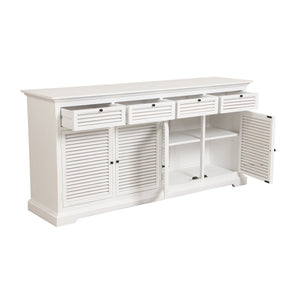 Riviera 4 Door Sideboard - White  Furniture nz