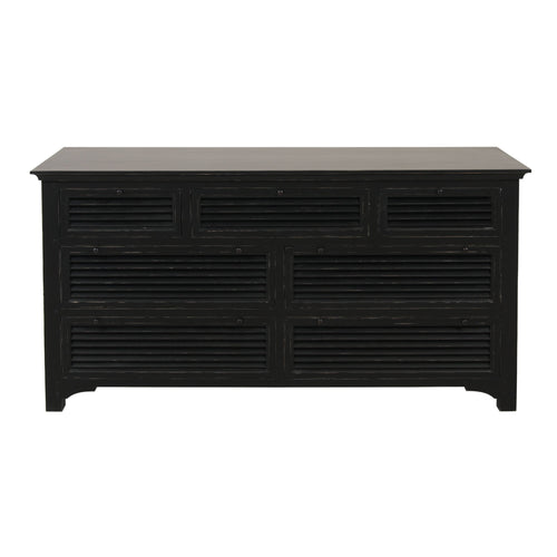 Riviera 7 Drawer Chest Black furniture nz
