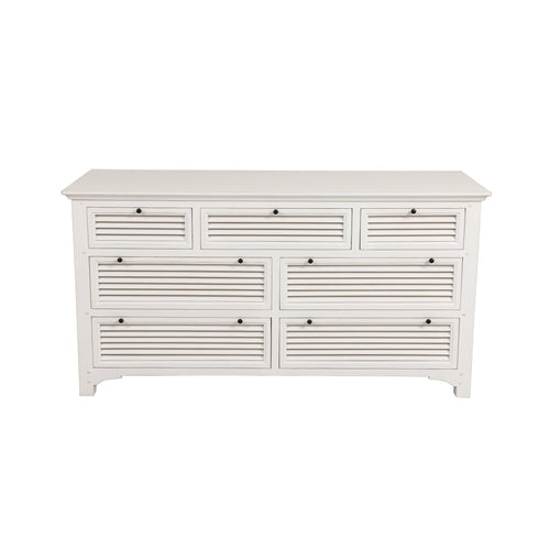 Riviera 7 Drawer Chest - White  Furniture nz