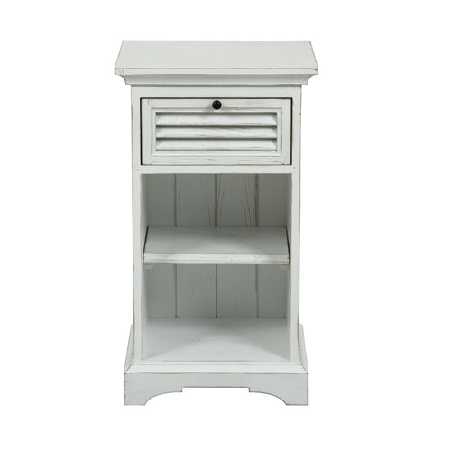 Riviera 1 Drawer Bedside Table - White  Furniture nz