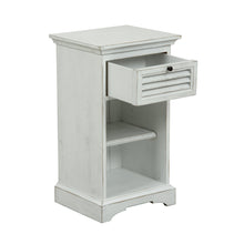 Load image into Gallery viewer, Riviera 1 Drawer Bedside Table - White  Furniture nz