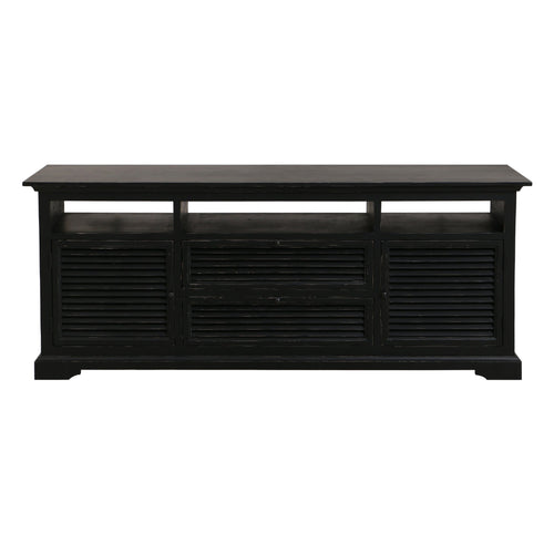 Riviera Entertainment Unit - Black  Furniture nz