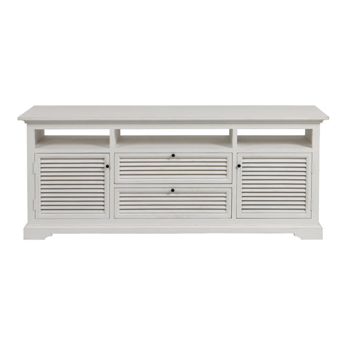 Riviera Entertainment Unit White furniture nz