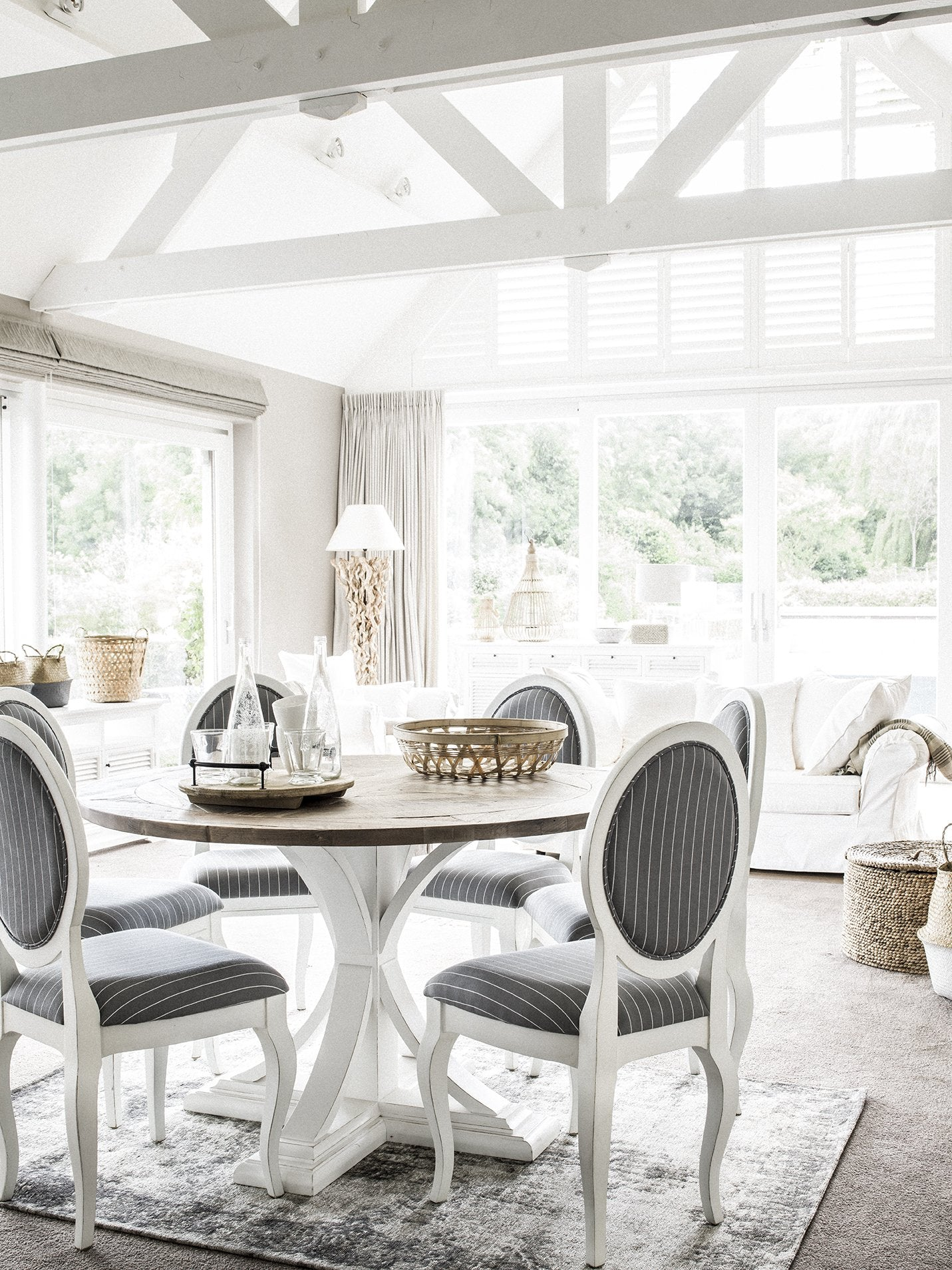 Picture of: Riviera Round Dining Table White Natural Wood The French Villa