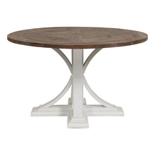 Load image into Gallery viewer, Riviera Round Dining Table - White With Wood Top  Furniture nz