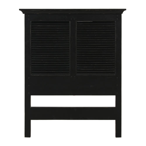 Riviera Single Headboard - Black Furniture nz