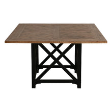 Load image into Gallery viewer, Riviera Square Dining Table - Black With Wood Top Furniture nz