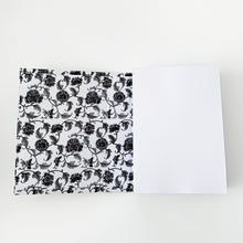 Load image into Gallery viewer, The French Villa Floral Vine Notepad - Black & White