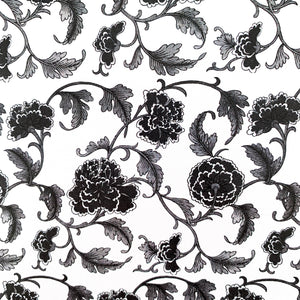 The French Villa Floral Vine Notepad - Black & White
