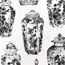 Load image into Gallery viewer, The French Villa Ginger Jars Notepad - Black & White