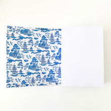 Load image into Gallery viewer, The French Villa Japanese Temples Notepad - Blue & White Homewares nz
