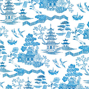 The French Villa Japanese Temples Notepad - Blue & White Homewares nz