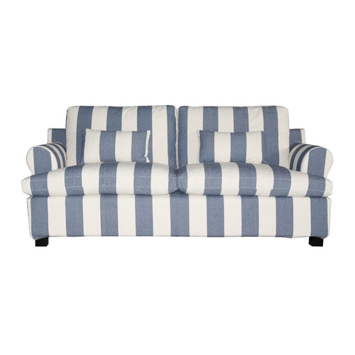 Nantucket 3 Seater Sofa - Blue & Off White Stripe