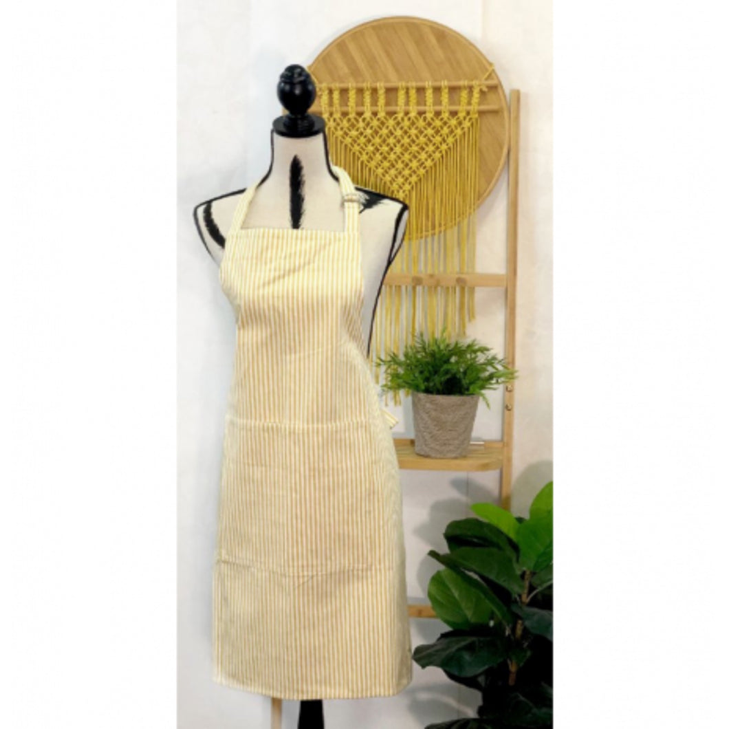 Sunset Stripe Apron - Yellow & White