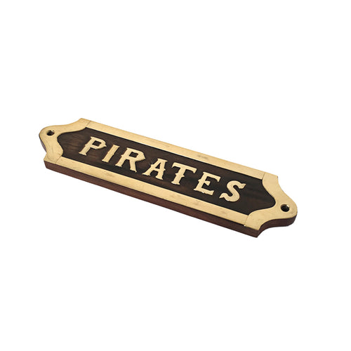 Pirates Wooden Plaque Homewares nz